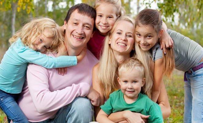 Количество детей в многодетных семьях