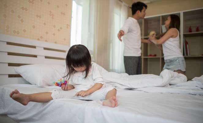 ребенок на фоне ссоры родителей